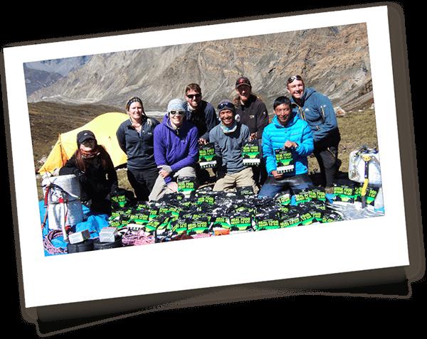 Explorers with Wayfayrer Camping food on Mount Kilimanjaro