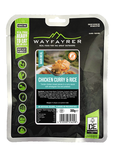 RTE pouch chicken curry & Rice